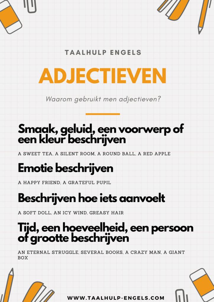 Adjectieven Taalhulp Engels