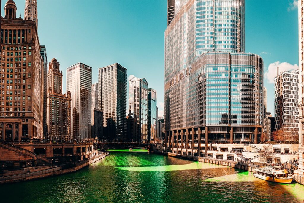 Chicago River Saint Patrick's Day Taalhulp Engels