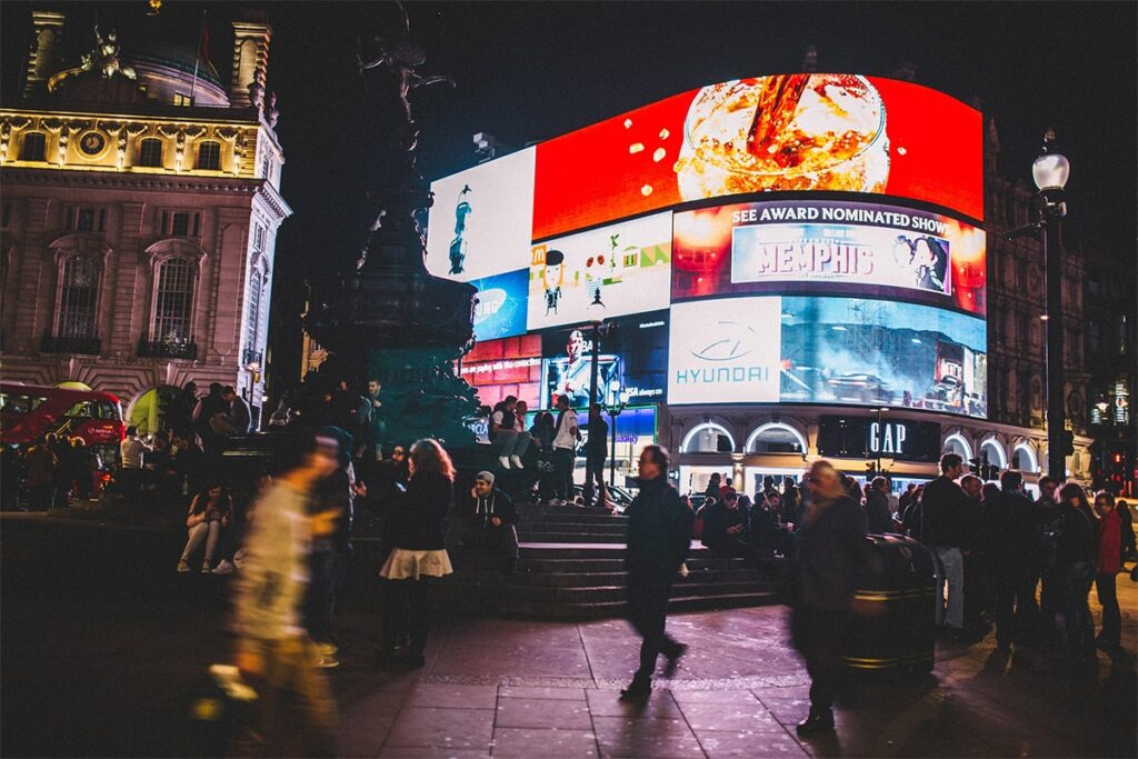 Piccadilly Circus Taalhulp Engels