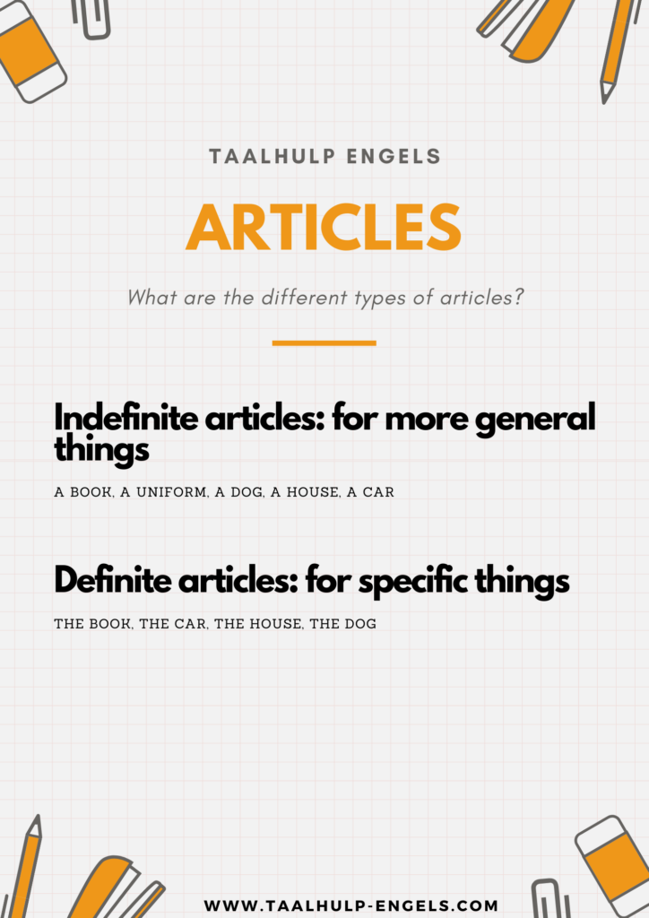 Articles English Taalhulp Engels